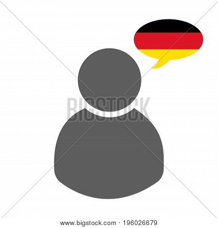 German speaker icon on a white background vector illustration