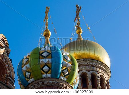 Temple of the Savior on the Blood - close-up view, St. Petersburg, Russia