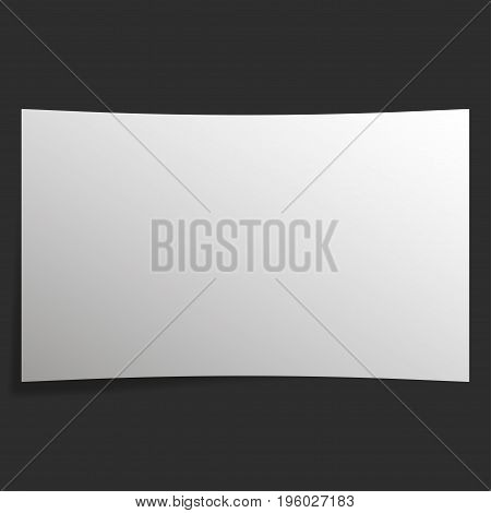 The screen in the cinema with a dark wall. 3D cinema screen vector illustration