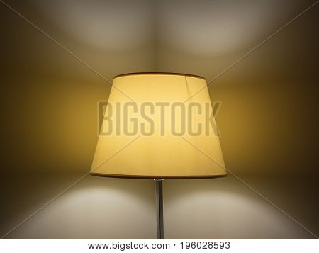 A Lamp with lampshade in the night