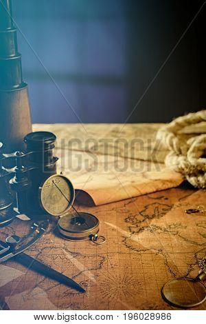 Travel Geography Navigation Concept Background.