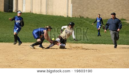 high school softball game