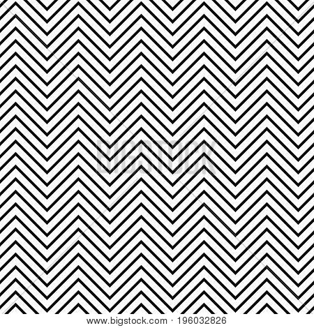 Black and white seamless zig zag line pattern background