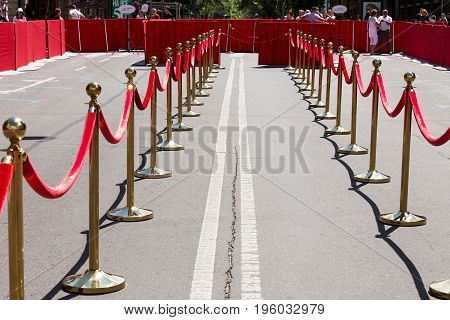 Way To Success On The Red Carpet (barrier Rope)odessa, Ukraine - July 15, 2017: Way To Success On Th