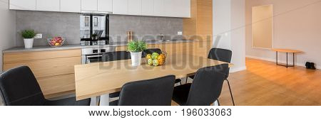 Open Kitchen With Table