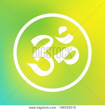 Om symbol for meditation. Hinduism, zen buddhism religion. Yoga studio logo