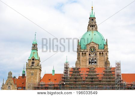 The New Town Hall, The Residence Of The Head Of The Municipal Administration, Hannover, .lower Saxon
