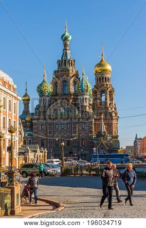 St. Petersburg, Russia - June 04.2017. The Church of the Savior on the Spilled Blood