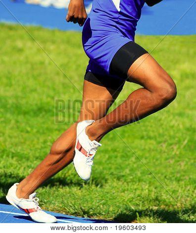 muscular male runner body