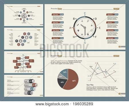 Infographic design set can be used for workflow layout, diagram, annual report, presentation, web design. Business and logistics concept with process, timing, line, flow and pie charts.