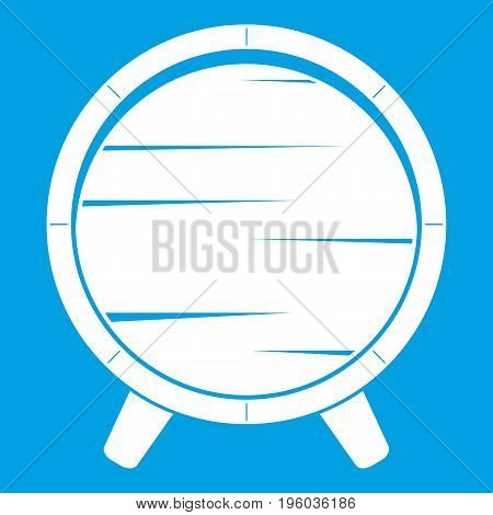 Barrel on legs icon white isolated on blue background vector illustration