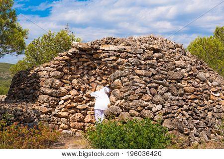Ruin, Dry Stone Building, 11-15Th Century, Piedra Seca, Mont-roig Del Camp, Tarragona, Catalunya, Sp