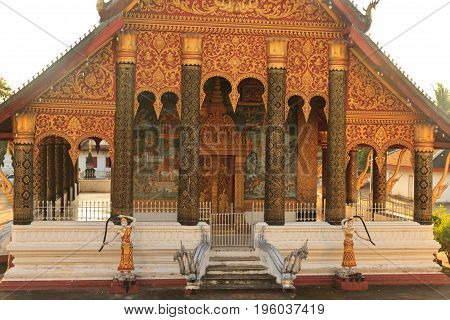 Vat Xienhgtong, one of the Buddha complexes in Luang Prabang which is the UNESCO World Heritage city