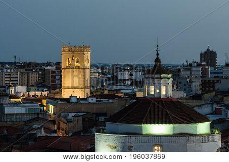 the old part of the Town Badajoz Extremadura Spain Europe