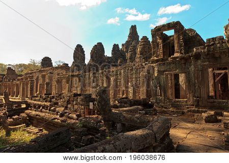 Prasat Bayon Temple in Angkor Thom, near Siem Reap, Cambodia