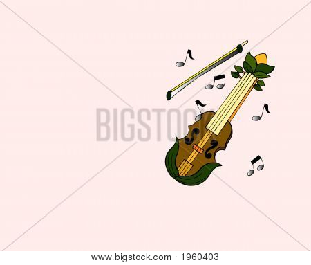 Music Notes And Violin2