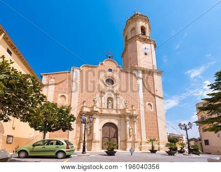 Parish Church Santa Maria Assumpta In Les Borges Del Camp, Tarragona, Catalunya, Spain. Copy Space F