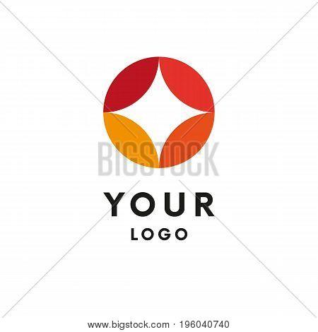 Abstract Logo. Star Shape. Logotype. Vector illustration.