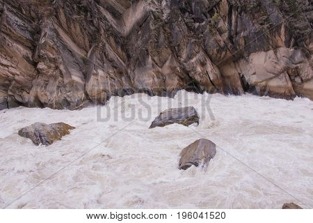 Tiger leaping gorge located north of Lijiang city Yunnan Province China