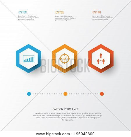 Authority Icons Set. Collection Of Group Organization, Company Statistics, Approved Target And Other Elements