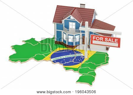 Property for sale and rent in Brazil concept 3D rendering