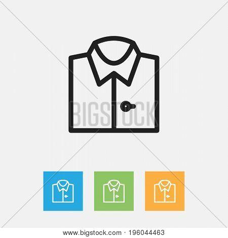 Vector Illustration Of Shopping Symbol On Shirt Outline