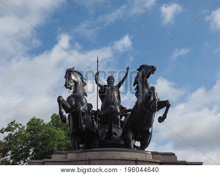 Boadicea Monument In London