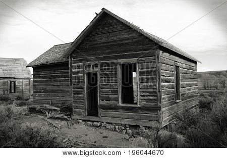The dilapidated remains of the ghost town of Piedmont Wyoming.