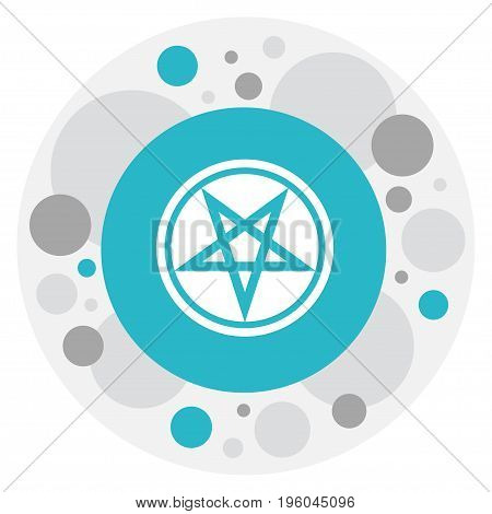 Vector Illustration Of Religion Symbol On Pentagram Icon