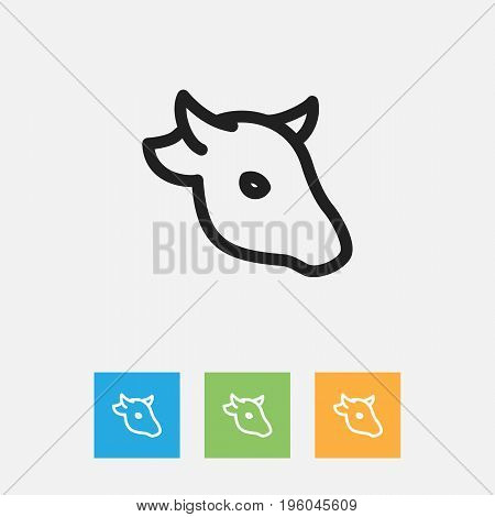 Vector Illustration Of Animal Symbol On Cattle Outline