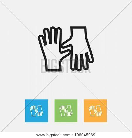 Vector Illustration Of Cleaning Symbol On Gauntlet Outline