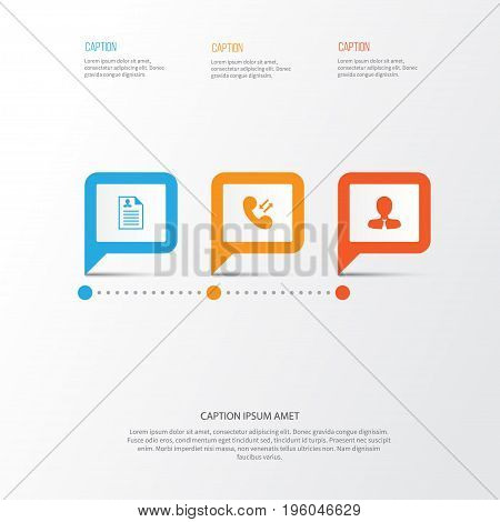Hr Icons Set. Collection Of Curriculum Vitae, Manager, Call And Other Elements