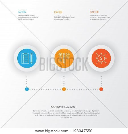 Project Icons Set. Collection Of Decision Making, Money, Reminder And Other Elements