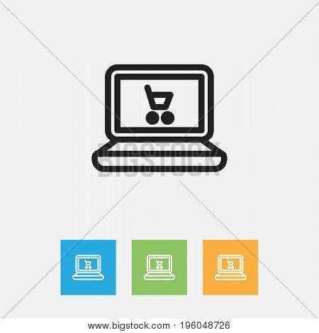 Vector Illustration Of Trade Symbol On Web Trading Outline
