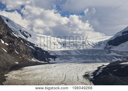 The Columbian Icefield in Banff National Park in Alberta Canada.