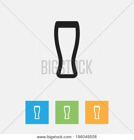 Vector Illustration Of Meal Symbol On Beer Outline