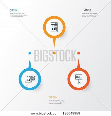 Project Icons Set. Collection Of Presentation, Investment, Personal Skills And Other Elements