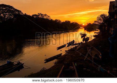 Golden Sunrise On Don Det