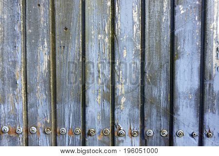 Weathered Wood Wall with screws in detail