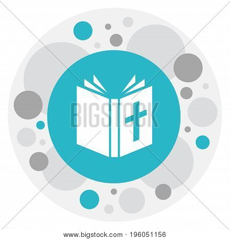 Vector Illustration Of Faith Symbol On Bible Icon