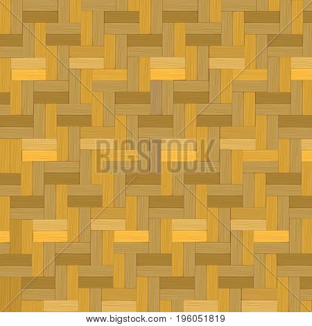 Wooden weave, Bamboo basket texture background vector illustration.