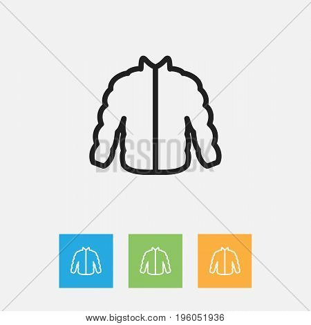 Vector Illustration Of Shopping Symbol On Sweater Outline