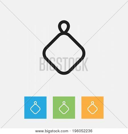 Vector Illustration Of Meal Symbol On Kitchen Board Outline