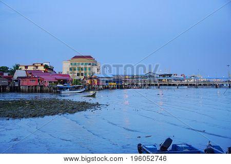 Jettys in Georgetown, Pinang Island, Malaysia, Asia