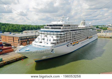 Stockholm, Sweden-July 12, 2017: Regent line cruise ship