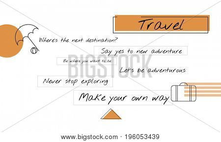 Travel Tourism Luggage Bag Icon