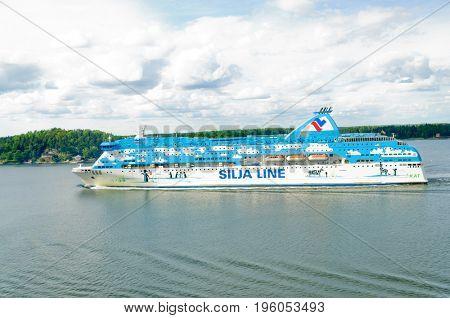 Stockholm, Sweden-July 12,2017: Silja Line cruise ship