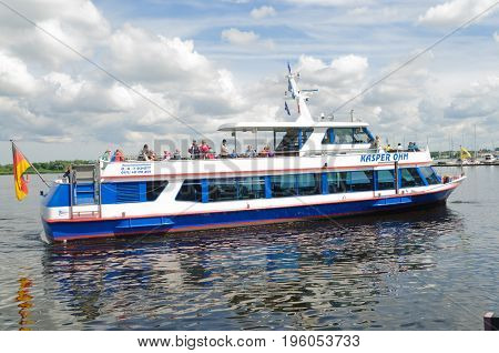 Rostock, Germany-July 14,2017: Ferry