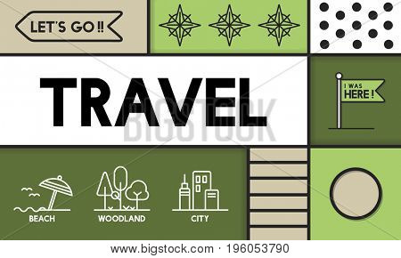 Travel Adventure Vacation Outdoors Graphic