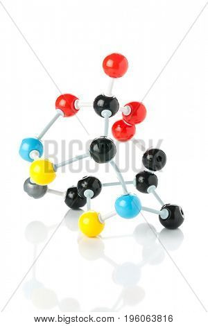 Model of chemical molecule isolated on white
